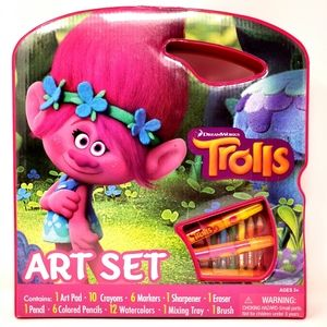Disney Dreamworks Trolls Art Set Brand New